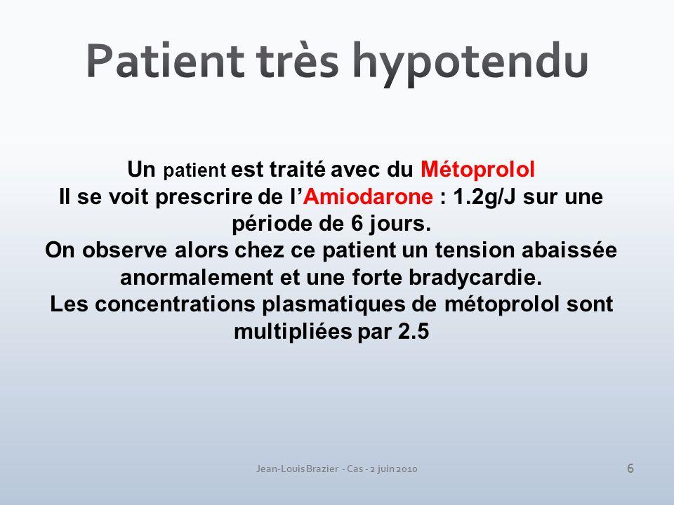 Patient très hypotendu