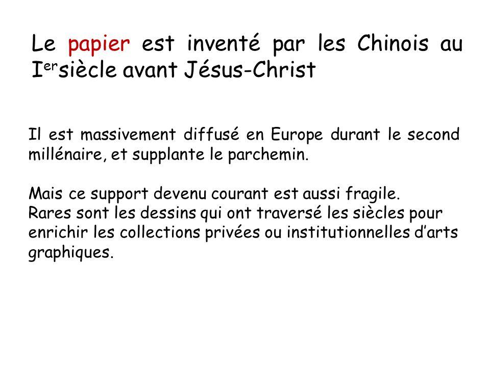 Le papier est inventé par les Chinois au Iersiècle avant Jésus-Christ