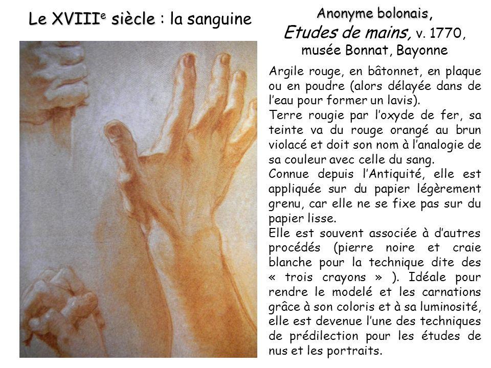 Etudes de mains, v. 1770, musée Bonnat, Bayonne