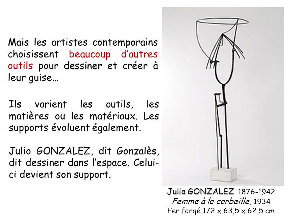 Mais les artistes contemporains choisissent beaucoup d'autres outils pour dessiner et créer à leur guise…