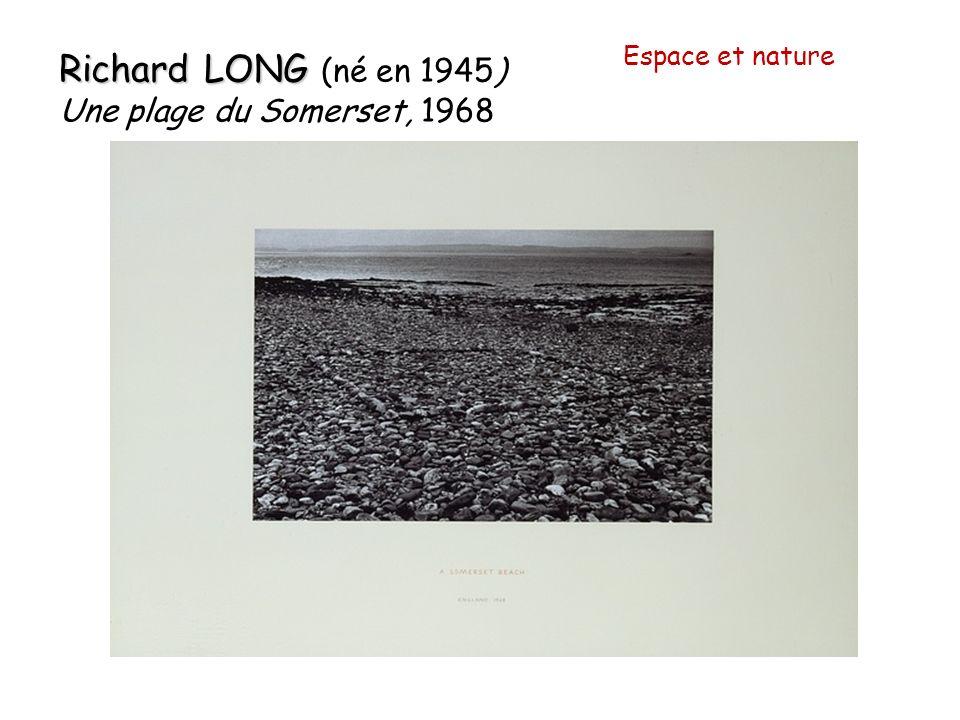 Espace et nature Richard LONG (né en 1945) Une plage du Somerset, 1968
