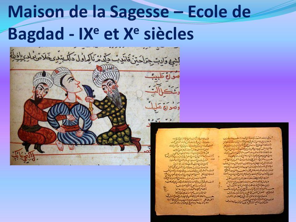 Maison de la Sagesse – Ecole de Bagdad - IXe et Xe siècles