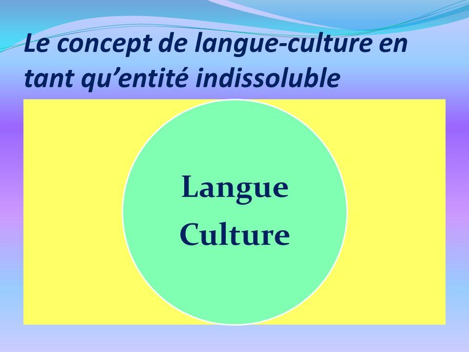 Le concept de langue-culture en tant qu'entité indissoluble