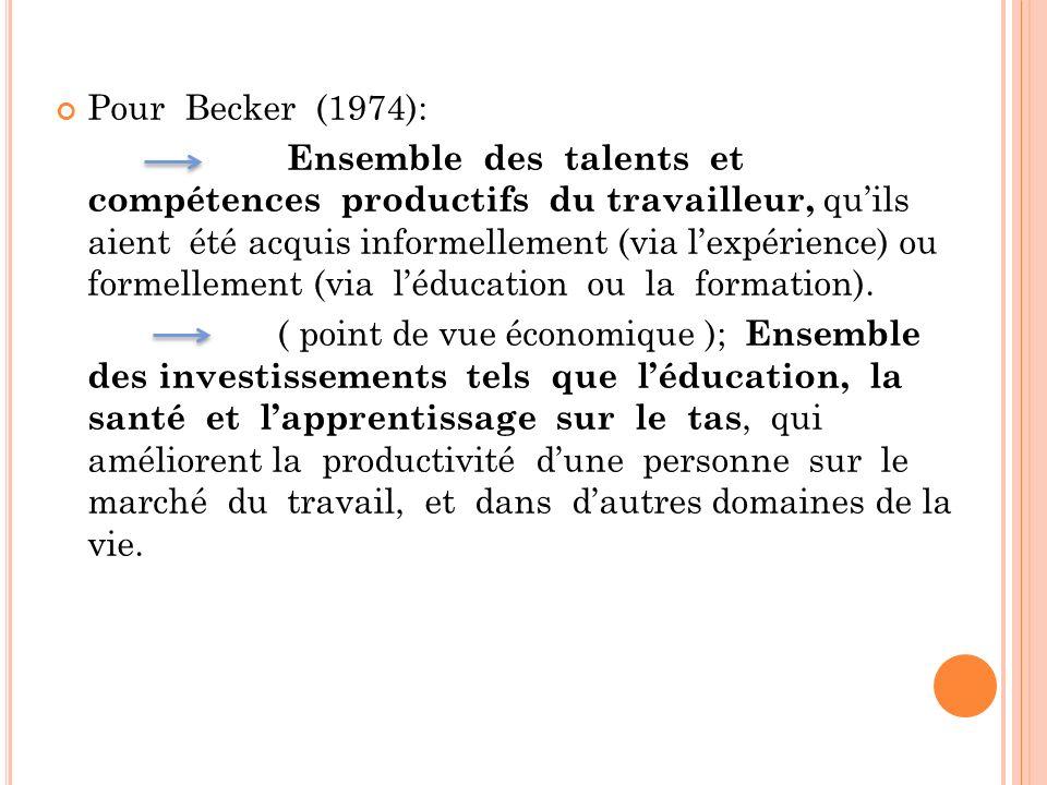 Pour Becker (1974):