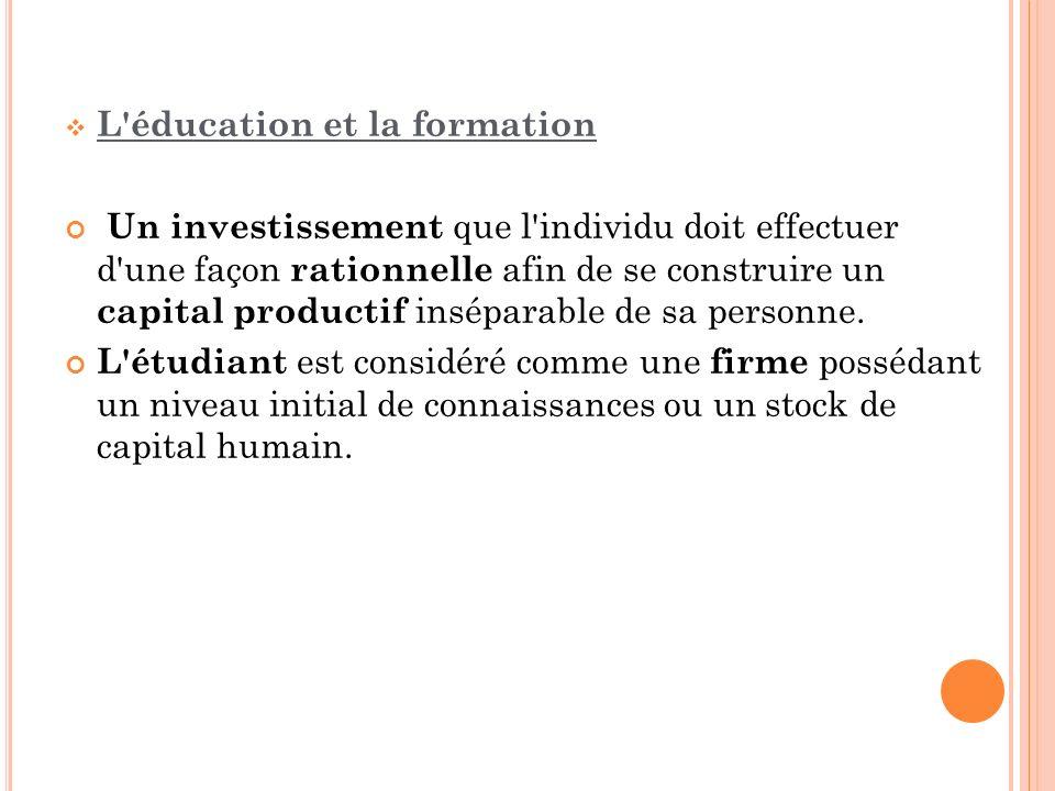 L éducation et la formation