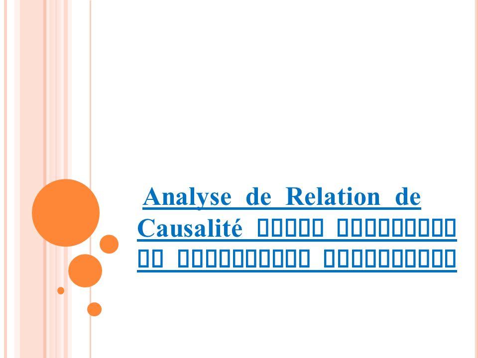 Analyse de Relation de Causalité entre Education et Croissance Economique