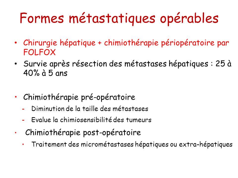 Formes métastatiques opérables