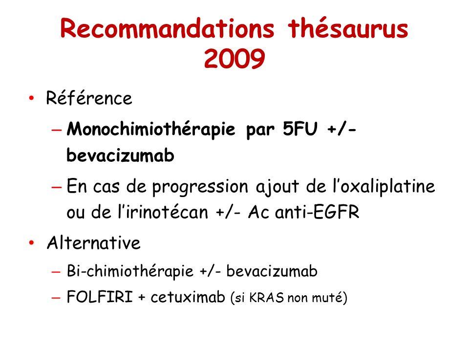 Recommandations thésaurus 2009