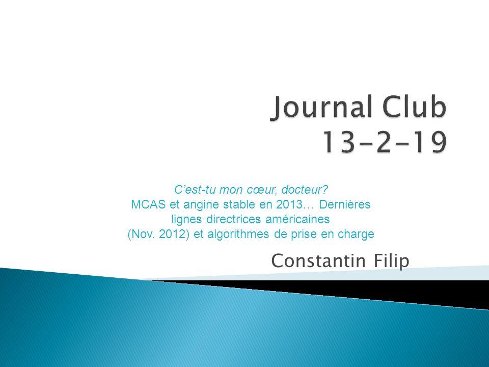 Journal Club 13-2-19 Constantin Filip C'est-tu mon cœur, docteur
