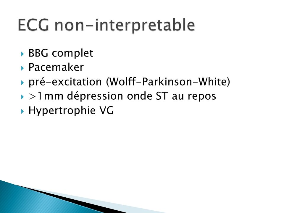 ECG non-interpretable