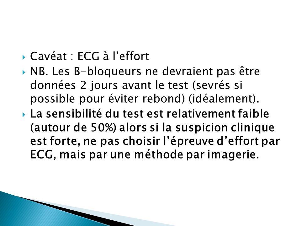 Cavéat : ECG à l'effort