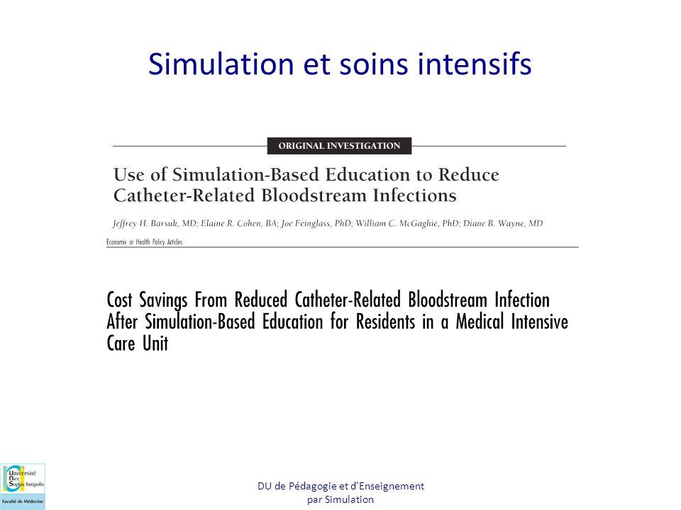Simulation et soins intensifs