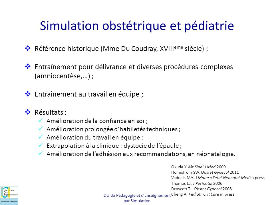Simulation obstétrique et pédiatrie