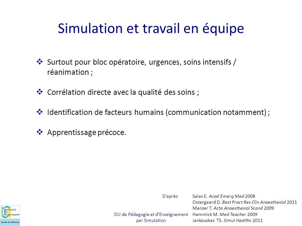 Simulation et travail en équipe