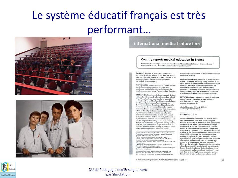 Le système éducatif français est très performant…