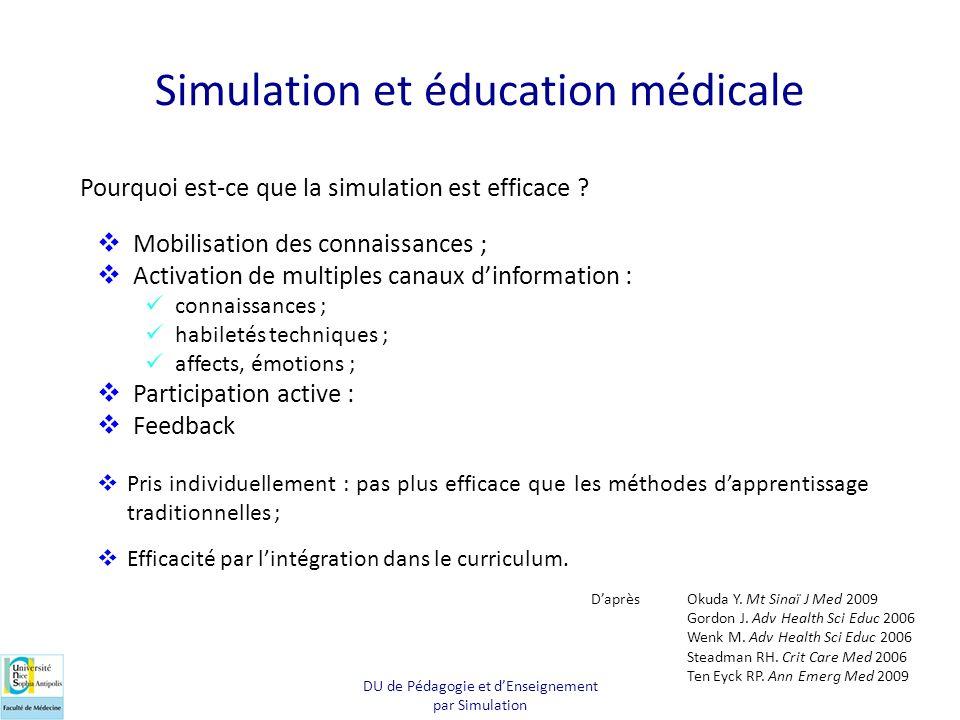 Simulation et éducation médicale