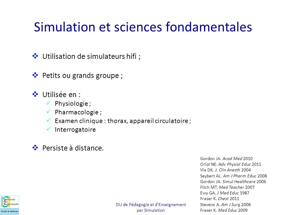 Simulation et sciences fondamentales