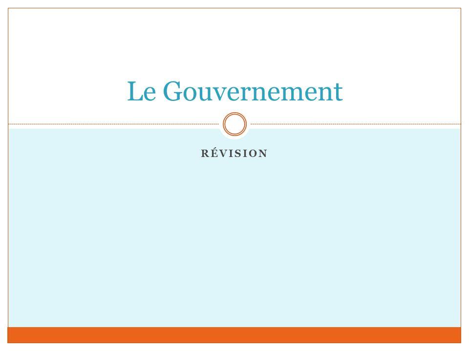 Le Gouvernement Révision