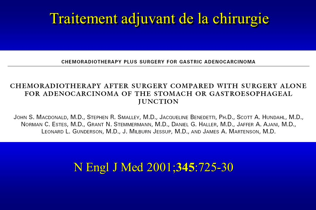 Traitement adjuvant de la chirurgie