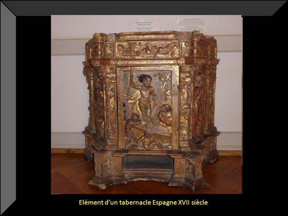 Elément d'un tabernacle Espagne XVII siècle
