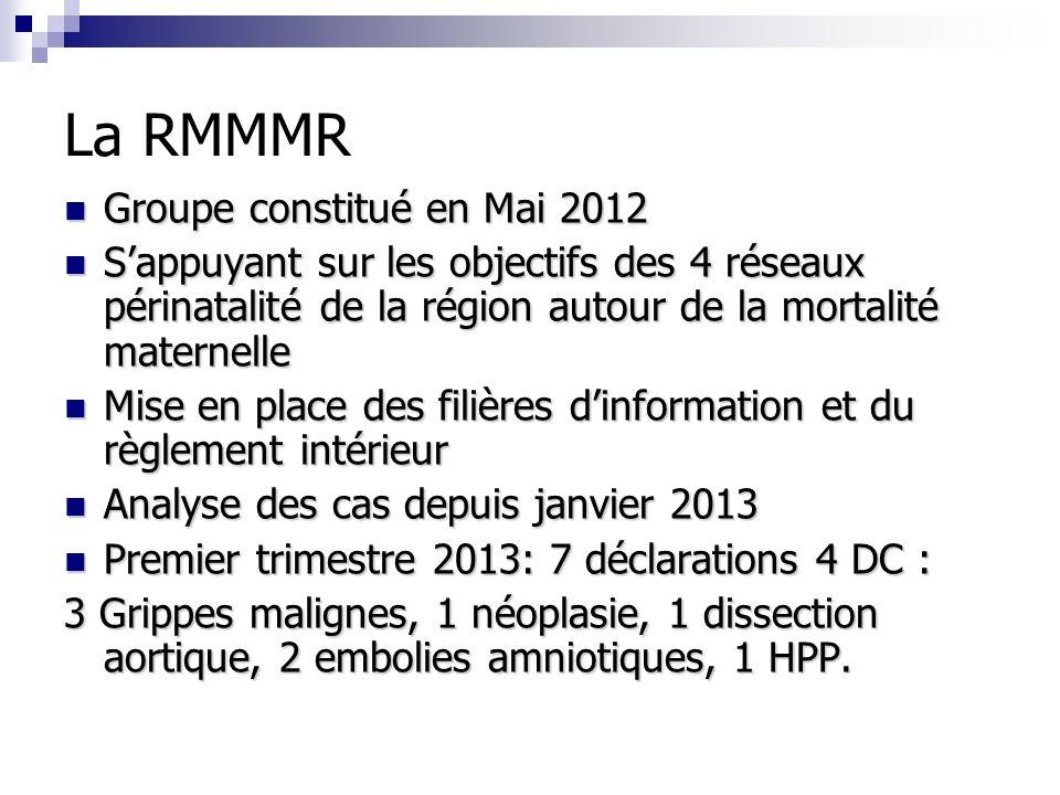 La RMMMR Groupe constitué en Mai 2012