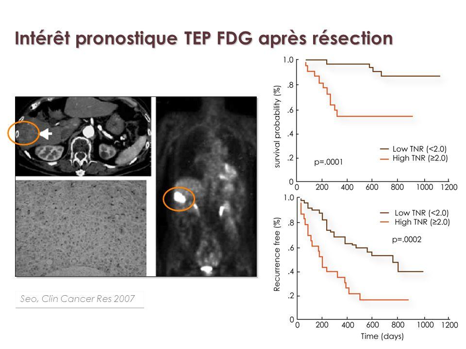 Intérêt pronostique TEP FDG après résection