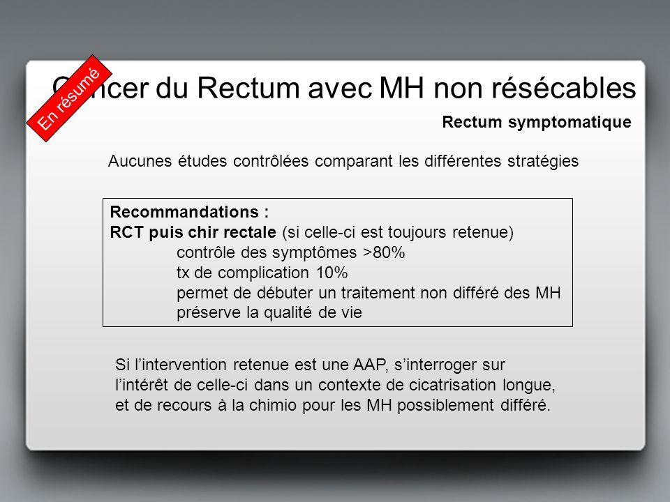 Cancer du Rectum avec MH non résécables