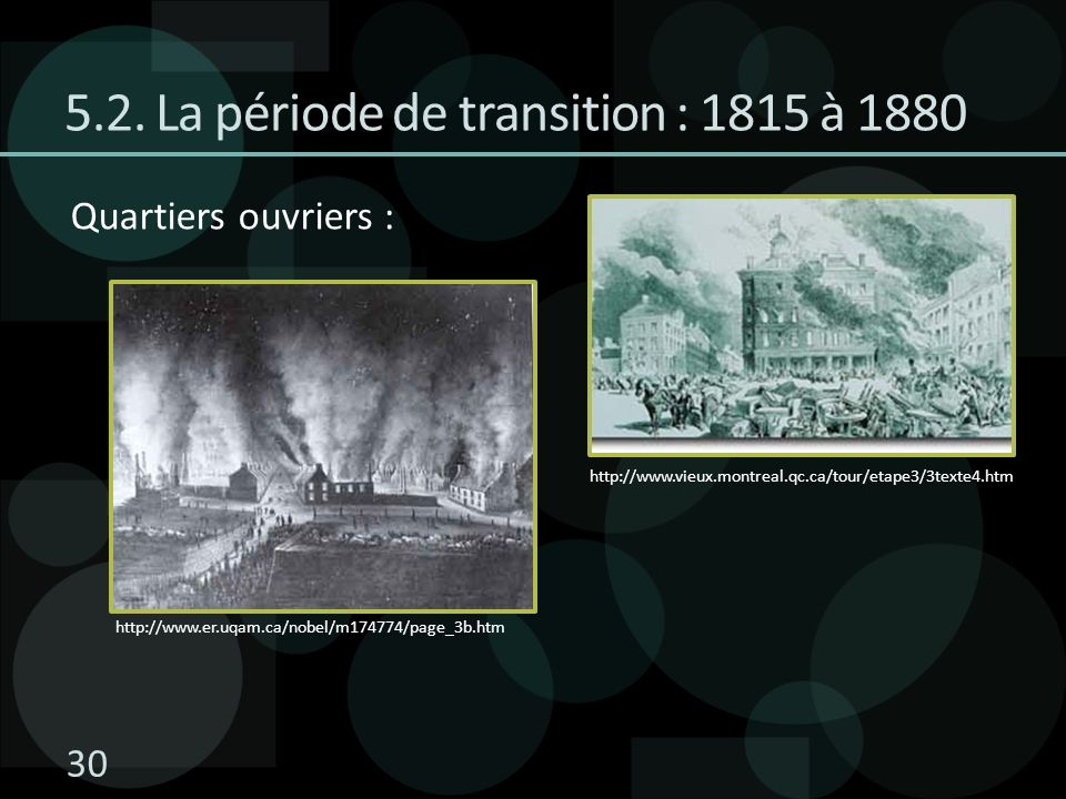 5.2. La période de transition : 1815 à 1880