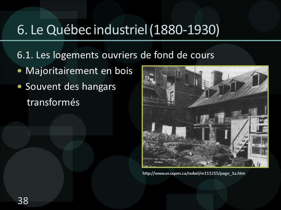 6. Le Québec industriel (1880-1930)