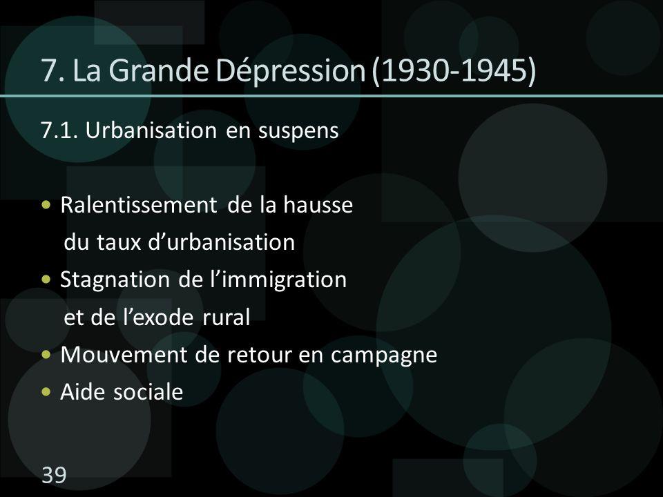 7. La Grande Dépression (1930-1945)