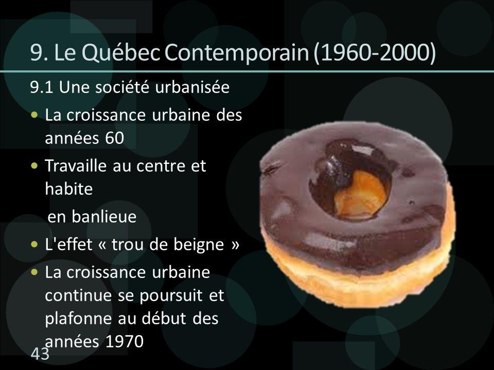 9. Le Québec Contemporain (1960-2000)