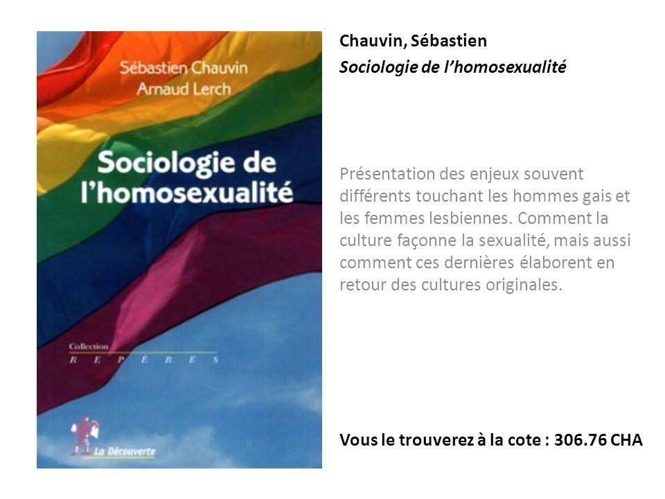 Chauvin, Sébastien Sociologie de l'homosexualité.