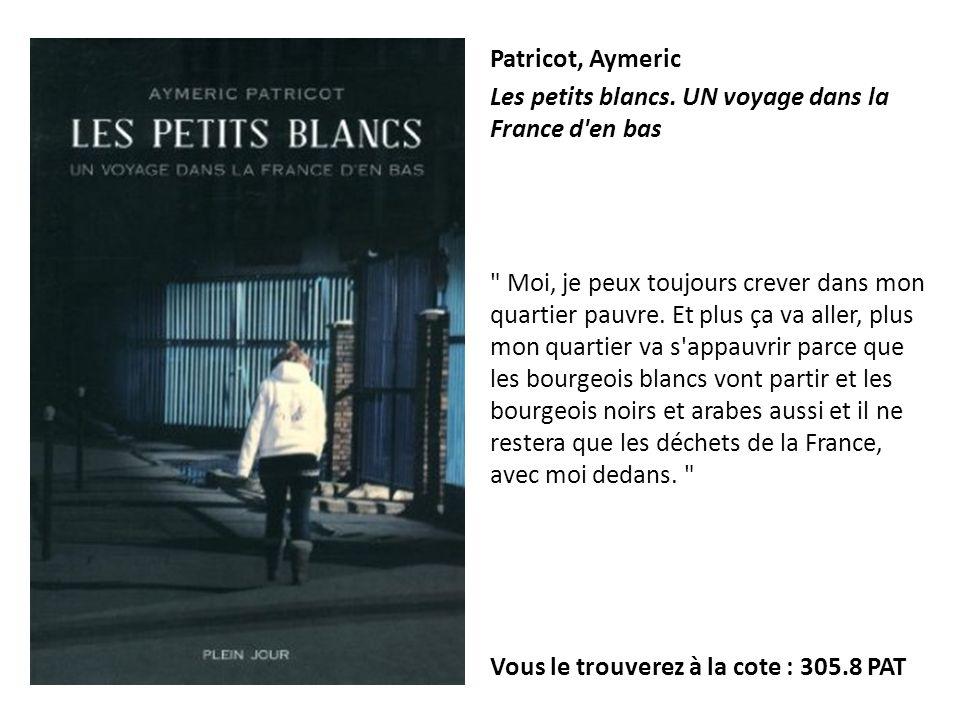 Patricot, Aymeric Les petits blancs. UN voyage dans la France d en bas.