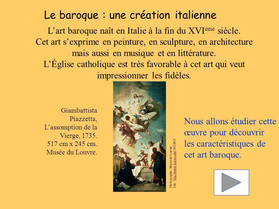 Le baroque : une création italienne