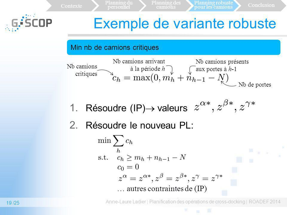 Exemple de variante robuste