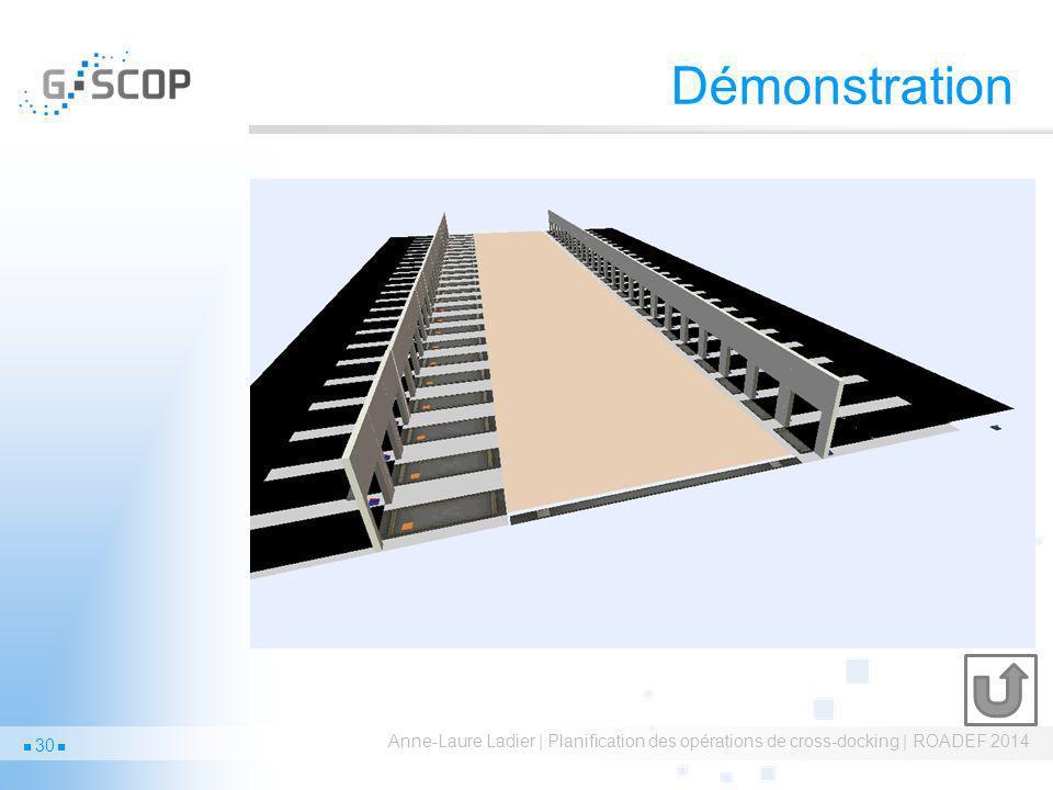 Démonstration Anne-Laure Ladier | Planification des opérations de cross-docking | ROADEF 2014