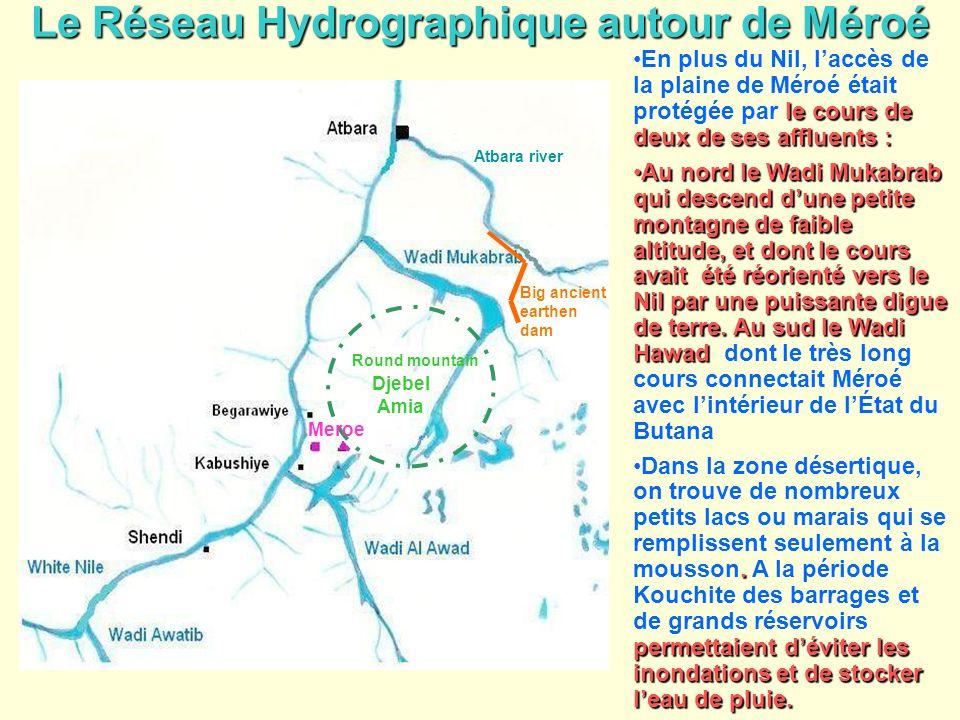 Le Réseau Hydrographique autour de Méroé