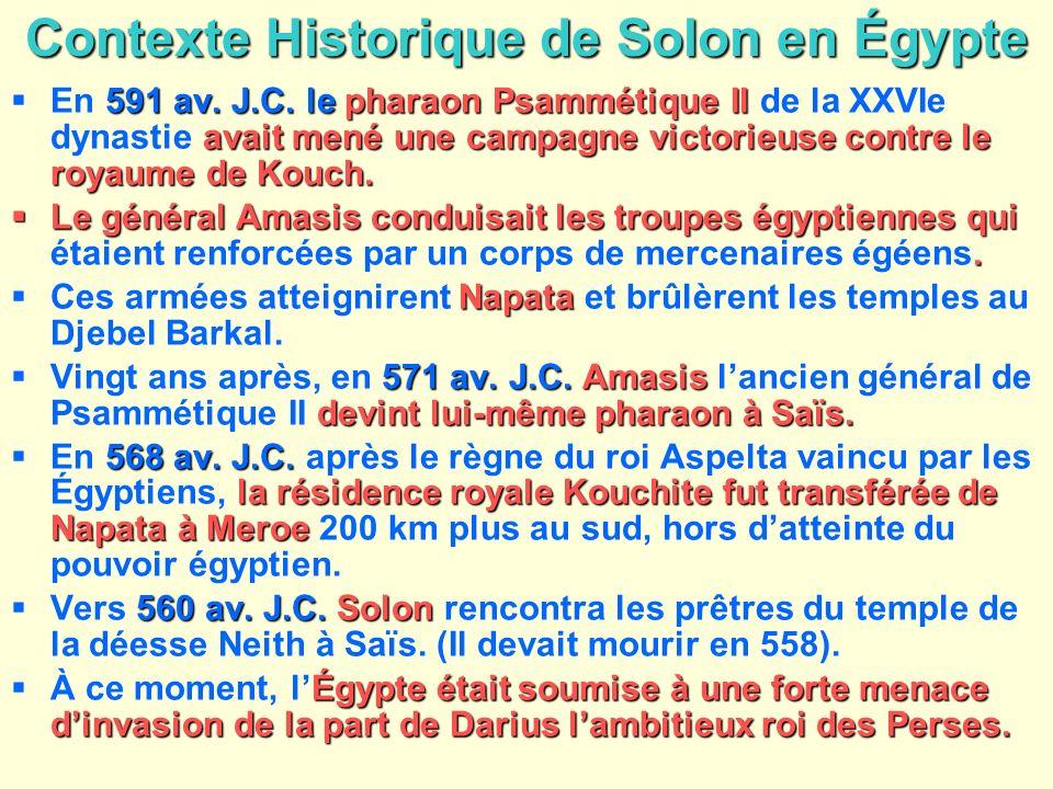 Contexte Historique de Solon en Égypte