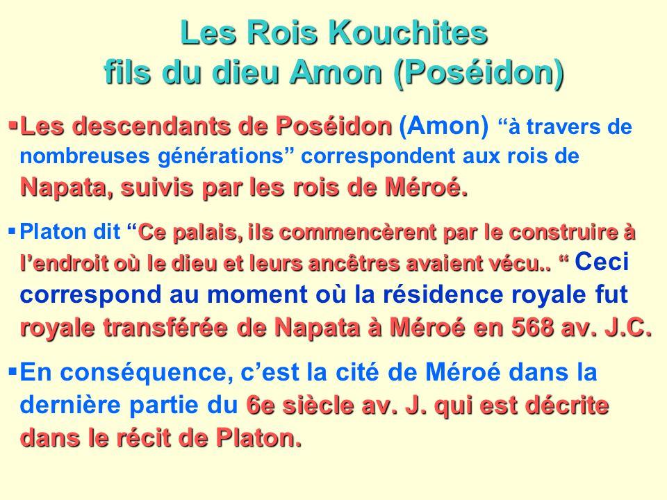 Les Rois Kouchites fils du dieu Amon (Poséidon)