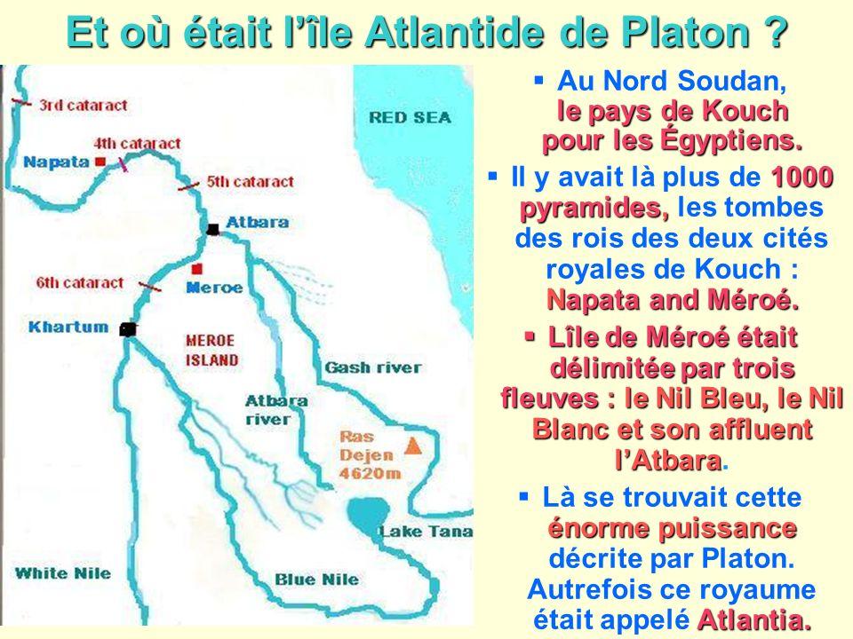 Et où était l'île Atlantide de Platon