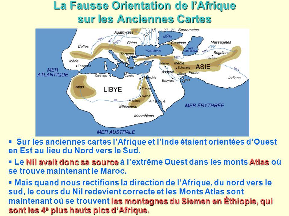 La Fausse Orientation de l'Afrique sur les Anciennes Cartes