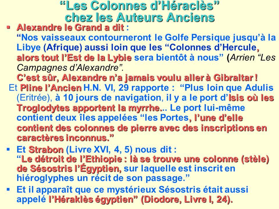 Les Colonnes d'Héraclès chez les Auteurs Anciens