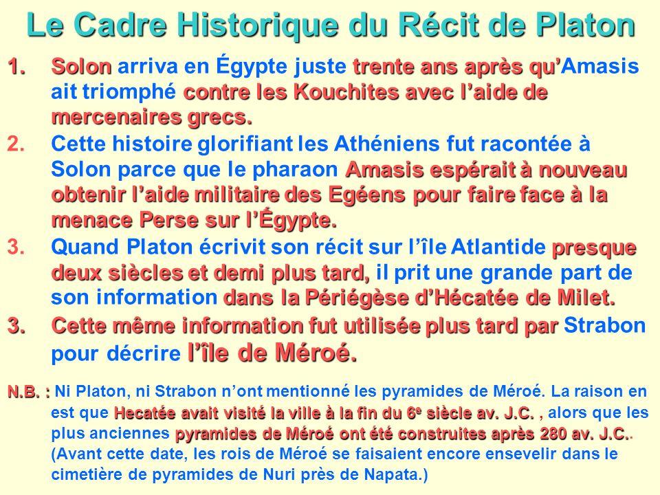 Le Cadre Historique du Récit de Platon