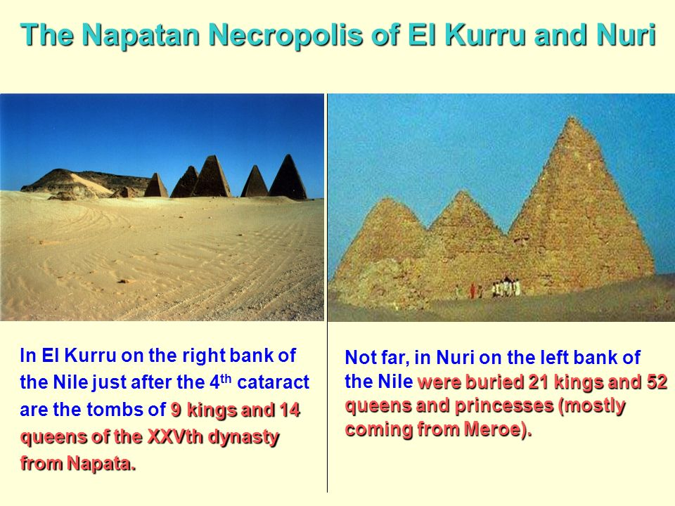 The Napatan Necropolis of El Kurru and Nuri