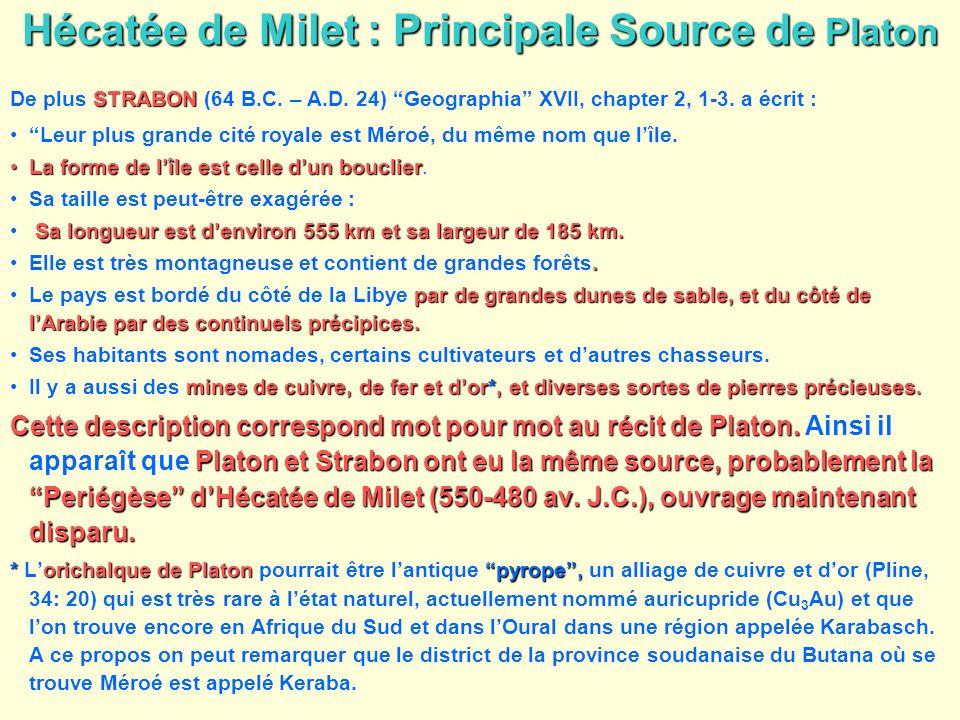 Hécatée de Milet : Principale Source de Platon