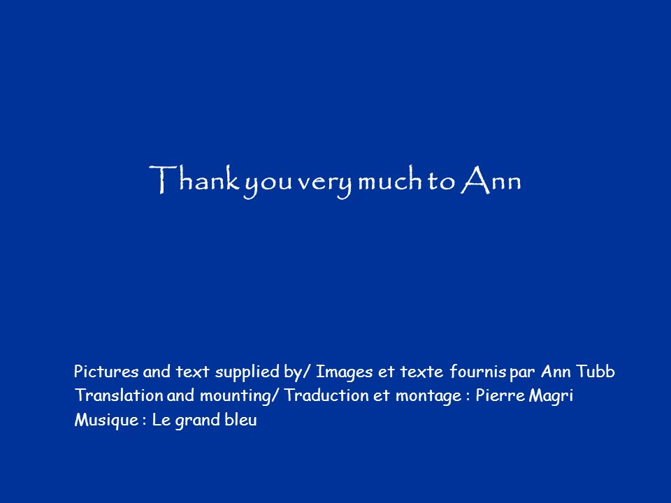 Thank you very much to Ann