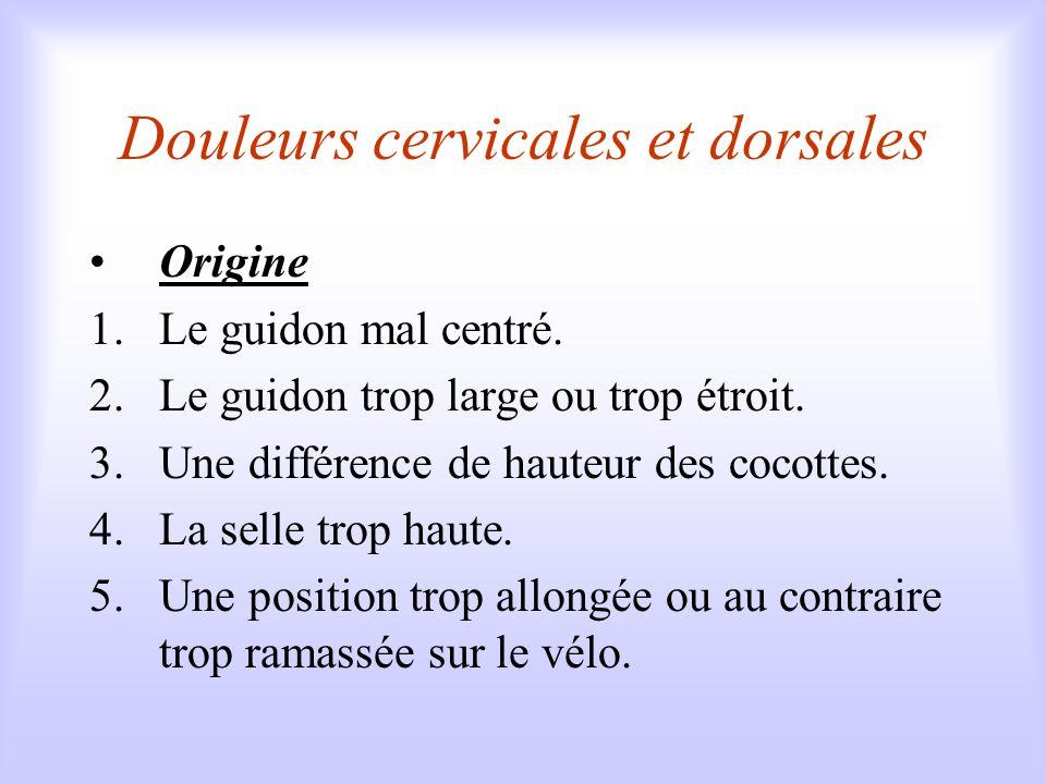 Douleurs cervicales et dorsales
