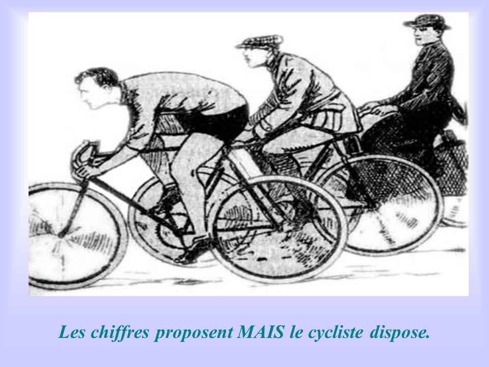 Les chiffres proposent MAIS le cycliste dispose.