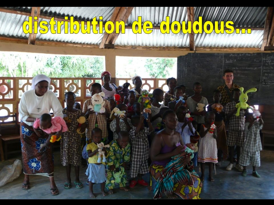 distribution de doudous...