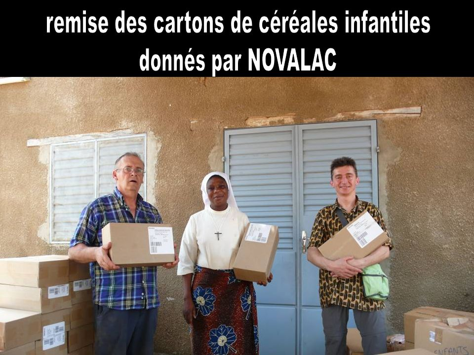 remise des cartons de céréales infantiles
